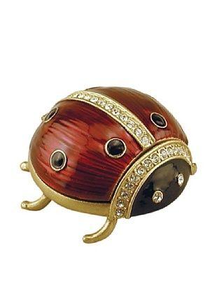 46% OFF Ashleigh Manor Hand-Painted Collectible Jeweled Ladybug Enameled Box