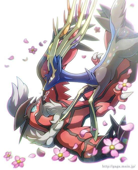 Xerneas and Yveltal   Pokemon, Pokemon fan art, Pokemon ...