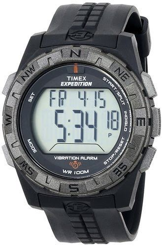 Timex Men's T49851 Expedition Rugged Digital Vibration Alarm Black Resin Strap Watch $35.92 http://roksmu.blogspot.com/2014/07/expedition-watches.html