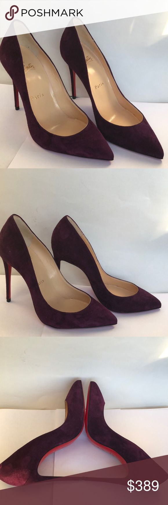 New Christian Louboutin Purple Suede So Kate 35 New without box. Authentic Christian Louboutin So Kate purple suede heels in size 35. A couple marks in suede. Christian Louboutin Shoes Heels