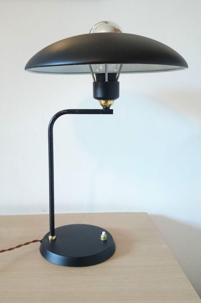 1950s Vintage Philips Black UFO Desk Lamp LOUIS KALFF EAMES STILNOVO ARTELUCE in Antiques | eBay