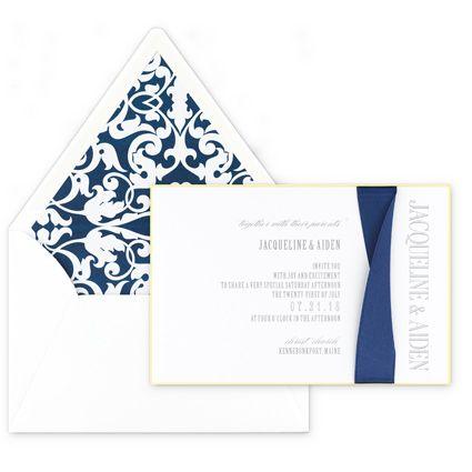 #Silk Twist #Ribbon #WeddingInvitation From #Checkerboard: Call Beth Today  To Set. Invitation IdeasTwistsWedding InvitationsRibbons