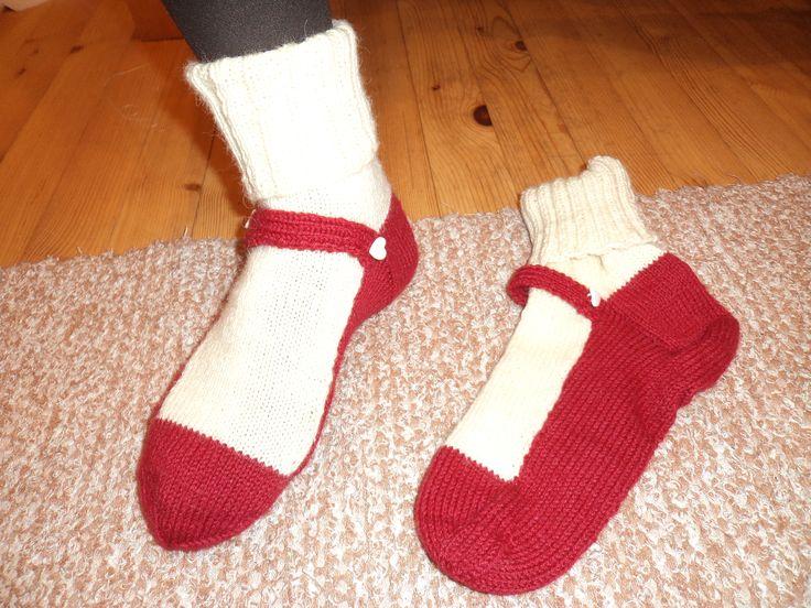 Balleriina-sukat Nalle-langasta