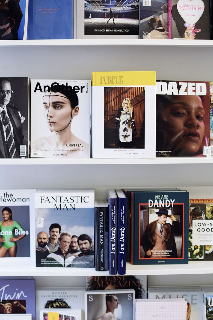 Shopping at magazine store, The Gentlewoman, Fantastic Man, Dazed