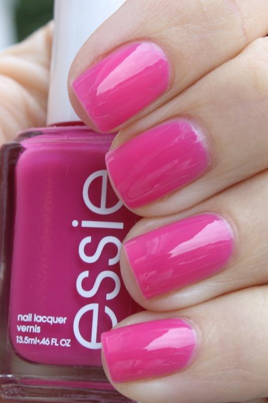 Essie - Secret Story  This a true bright pink  The color sort of    Essie Secret Story