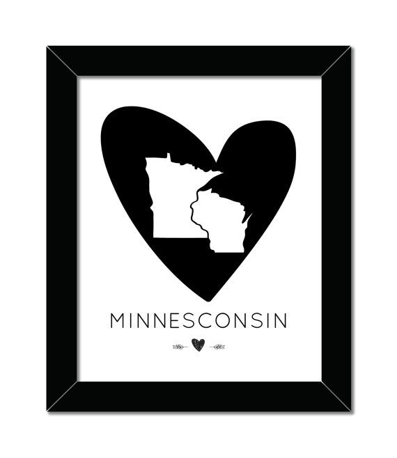 fd96b00d40 ... Midwest Print | 8x10 | Home Decor | Wisconsin Minnesota | Midwest Is  Best | Minnesconsin Printable | Instant Download | Print | pe | Wisconsin t…