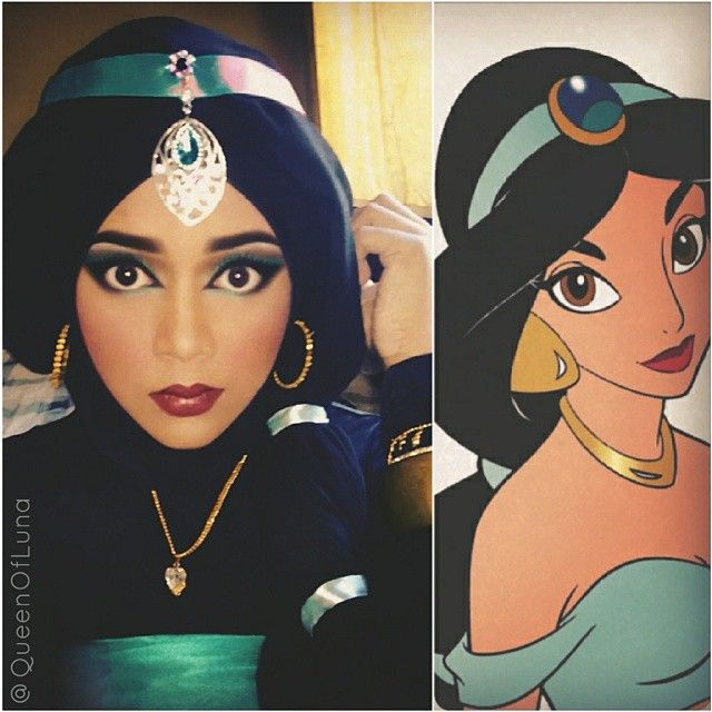 Pin for Later: Disney Fans Will Flip For This Makeup Artist's Incredible Transformations Princess Jasmine — Aladdin