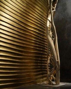 3D behang goud