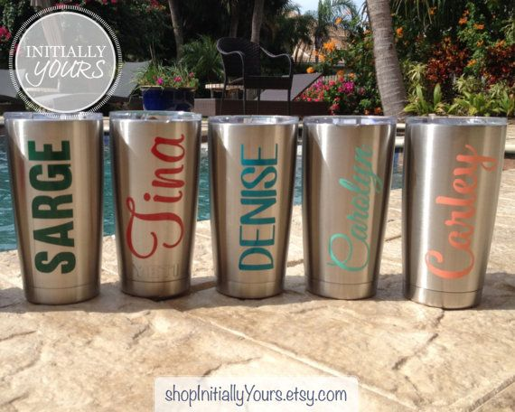 Personalized decal for yeti custom name vinyl stickers for yeti tumbler 20oz yeti rambler decal yeti cup decal decal only