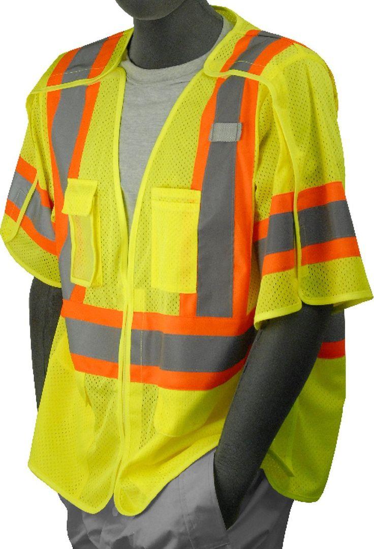 Safety Vest Majestic 753305 CL3 Hi Vis Breakaway Vest