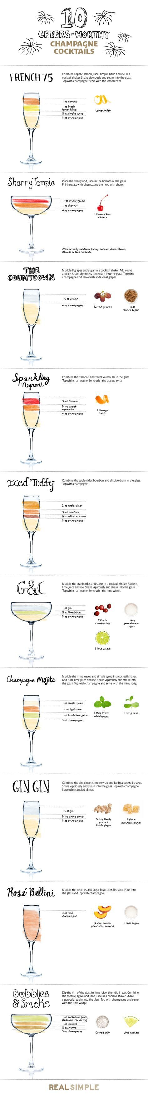 Say cheers! These original ideas elevate plain champagne into something truly special.