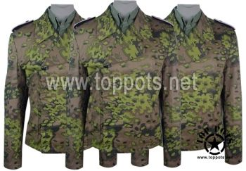 Reproduction WWII German Waffen SS M1940 Uniform Spring Oakleaf A Camouflage Panzer Wrap Tunic World War 2 Two WW2 sale clothing cheap sale reenacting reenactment reenactor airsoft jacket