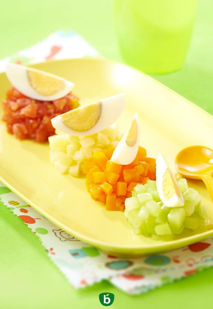 1842146e04a Recette bébé œuf et dés de légumes. Petit plat complet pour bébé dès 12 mois