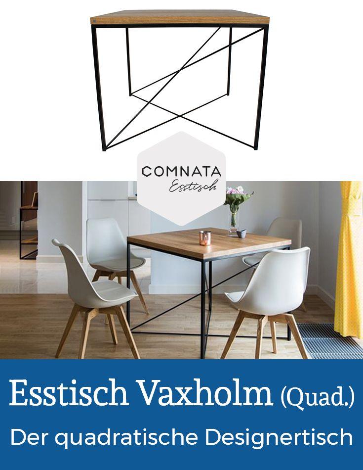 Esstisch Vaxholm Quadratisch Aus Massivholz Comnata Esstisch Finden Sie Weitere Wohnideen Und Einrichtungsideen Fur I Design Tisch Esstisch Quadratisch Tisch