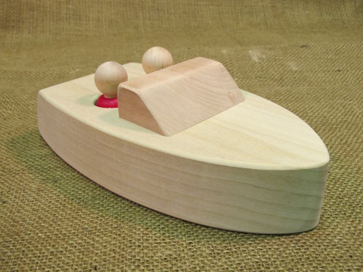 Floating Wooden Boat Toy By Uswoodtoys On Etsy 1500