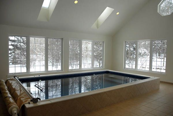 Swim in winter - this could easily be the scene in the mountains of southern France.