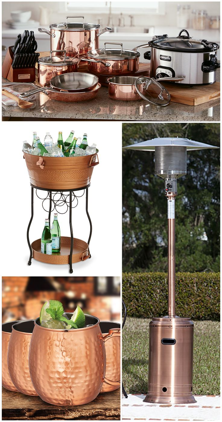 Showcase your style with timeless copper plated d cor and entertaining supplies sam 39 s club - Redo houten trap ...