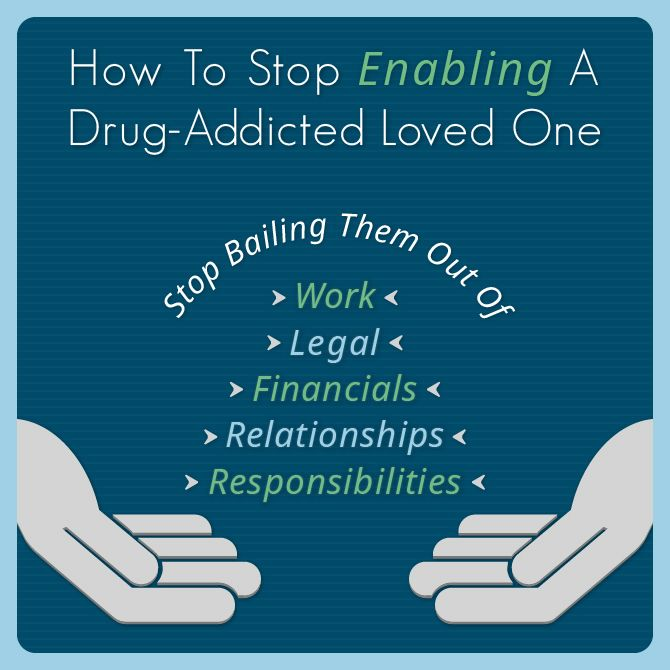 How To Stop Enabling A Drug-Addicted Loved One  http://www.drugrehab.org/how-to-stop-enabling-a-drug-addicted-loved-one/