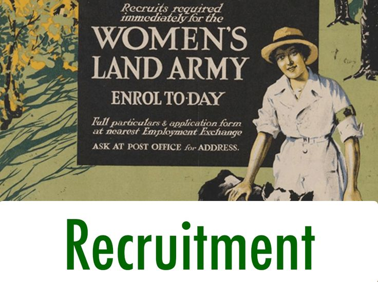 First World War Women's Land Army Recruitment
