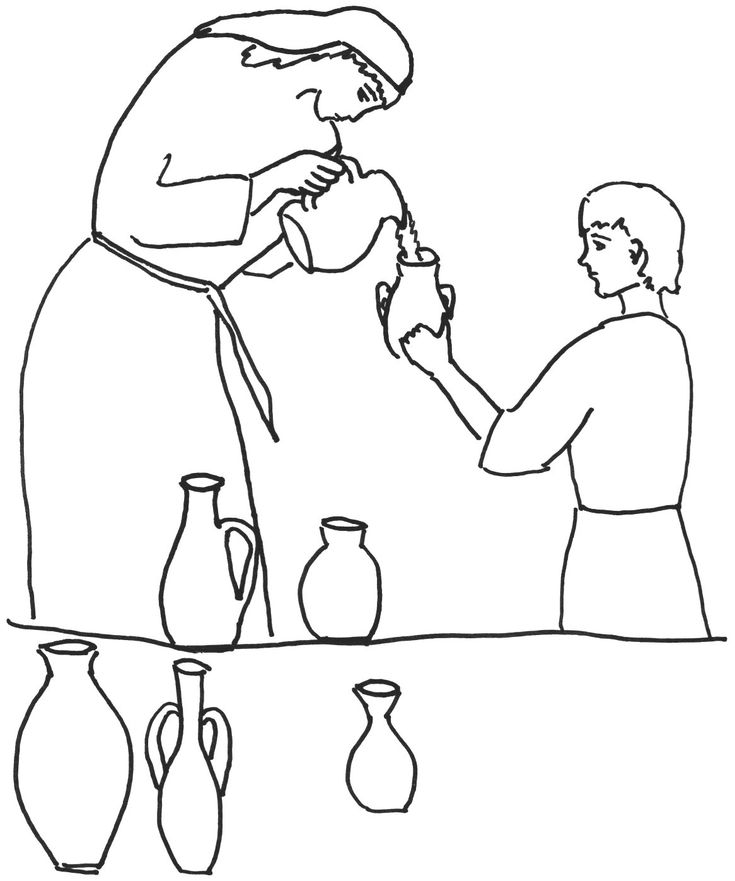Elisha and widow coloring page coloring pages for Elisha coloring pages