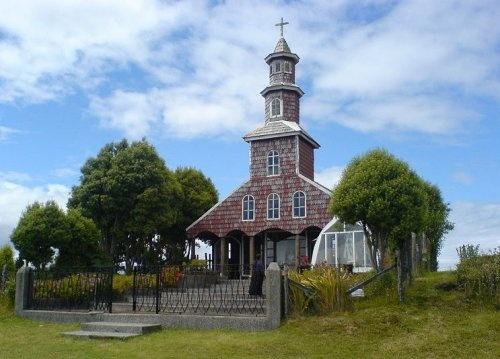Iglesia en Chacao, Chiloe, Chile
