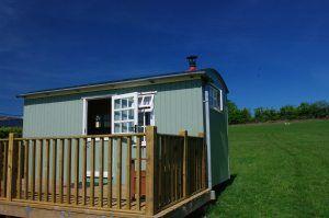 Glamping Devon Shepherds Hut at Higher Bodley Farm near Barnstaple