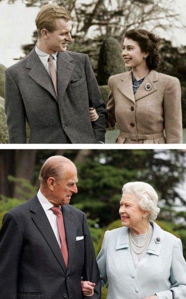 69  лет  вместе.  Королева  Елизавета  и  Принц  Филипп.