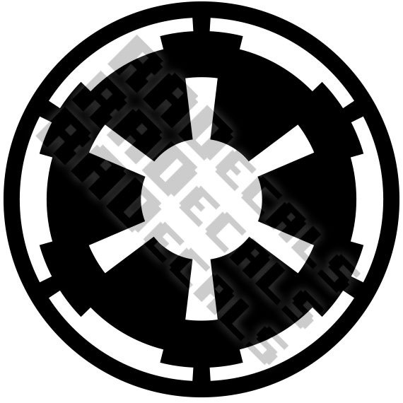 MINI Star Wars Galactic Empire logo vinyl decal by RADecals