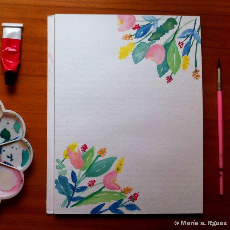 #Invitación #Spring #DiseñoDeEstampados #Acuarela #Dibujo #Flores #Primavera