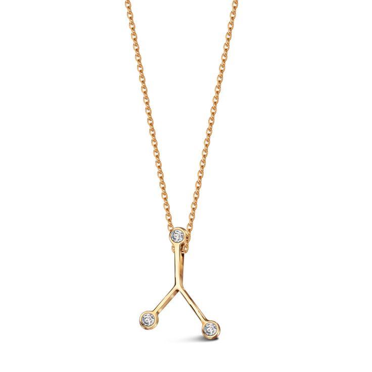 Zodiak Rak - srebrny naszyjnik
