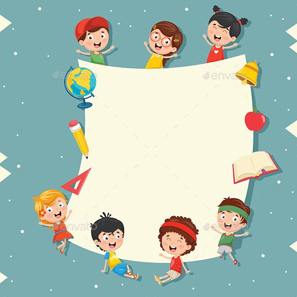 Kids Holding Blank Placard Holding Kids Placard Blank Holiday Illustrations Funny Kids Cartoon Kids