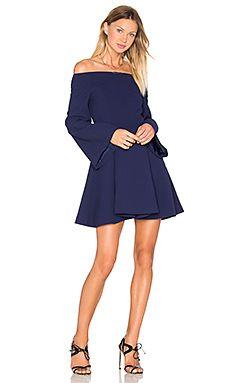 Short navy off the shoulder cocktail formal dress