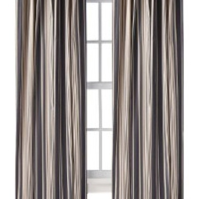 charcoal gray and tan curtains from target winthrop. Black Bedroom Furniture Sets. Home Design Ideas