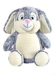 Bunny - Grey - Personalized Stuffed Animal
