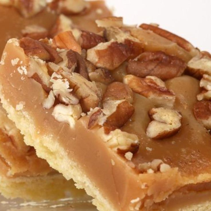 Millionaire Toffee Pecan Bars Recipe | Just A Pinch Recipes