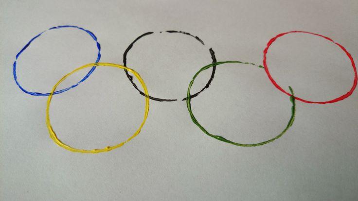 DIY Knutselen Olympische Spelen - Olympic Games  - de ringen - wc-rolletjes - paint - verf