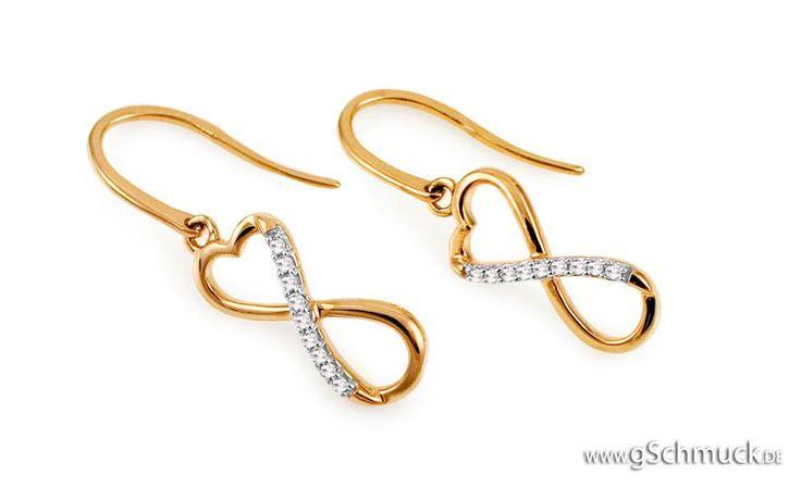 Diamant Ohrringe Infinity