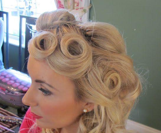 Pin curls for short hair