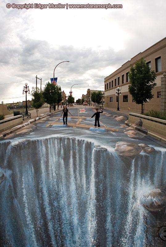 3D Paintings on the Street by Edgar Muller