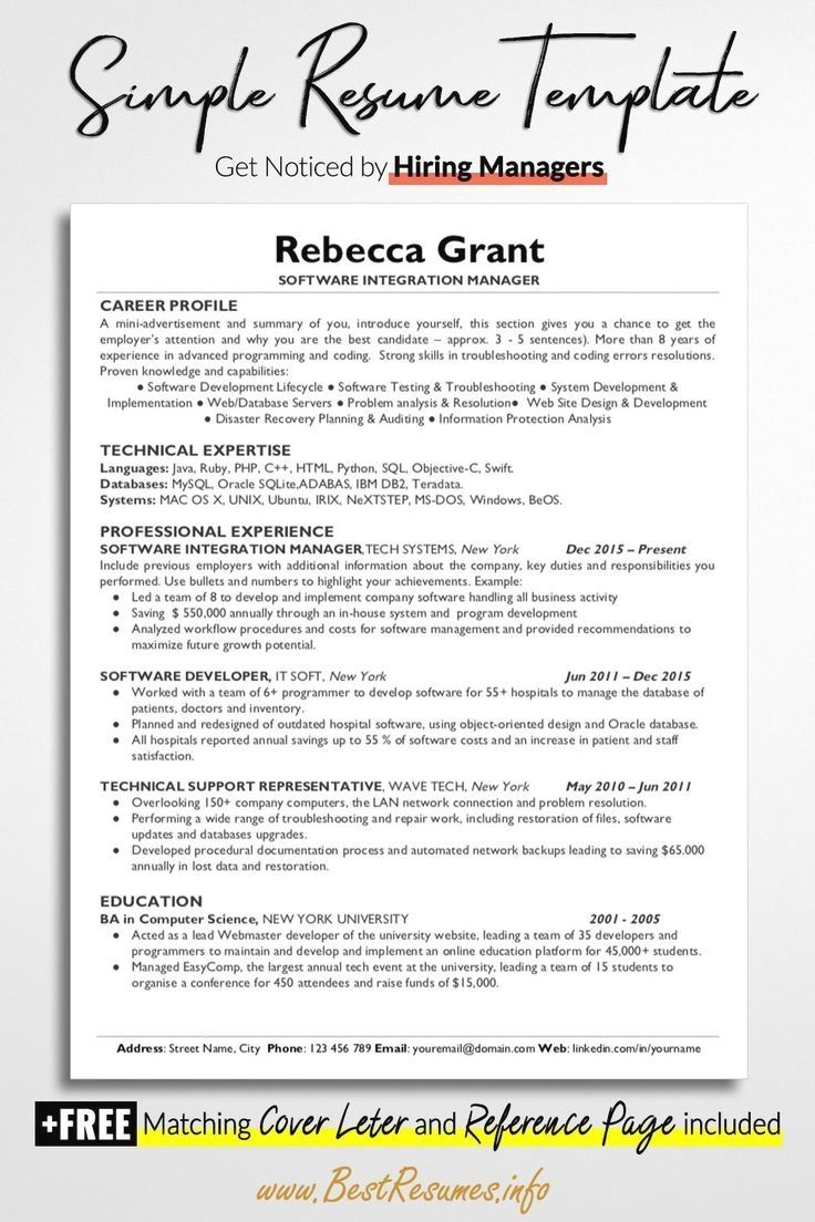 Resume Template With Headshot Photo Cover Letter 1 Page Word Resume Design Diy Teacher Resume Template Functional Resume Template Business Resume Template