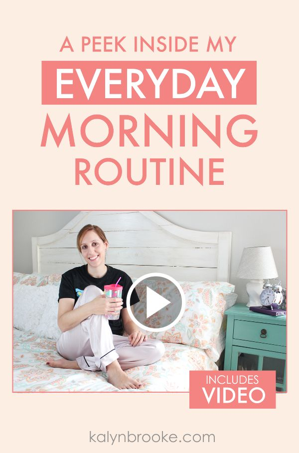 I've always struggled to find the perfect morning routine, and I hated the wake up early crowd that would make me feel bad if I wasn't up and productive by 5am! This girl totally gets me... and she's rocking it! I learned from her video that it's all about the routine, and not about the time. Totally going to be buying the Make Over Your Mornings course she talks about in the video as well! via @kalynbrookeco