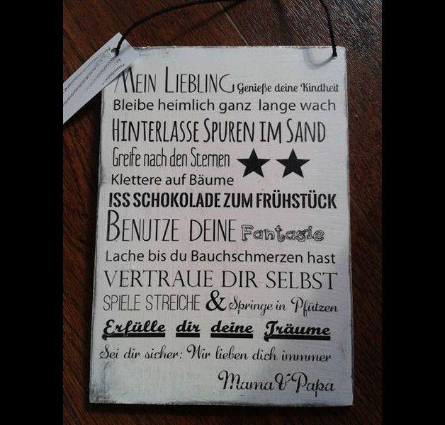 Schild Mein Liebling