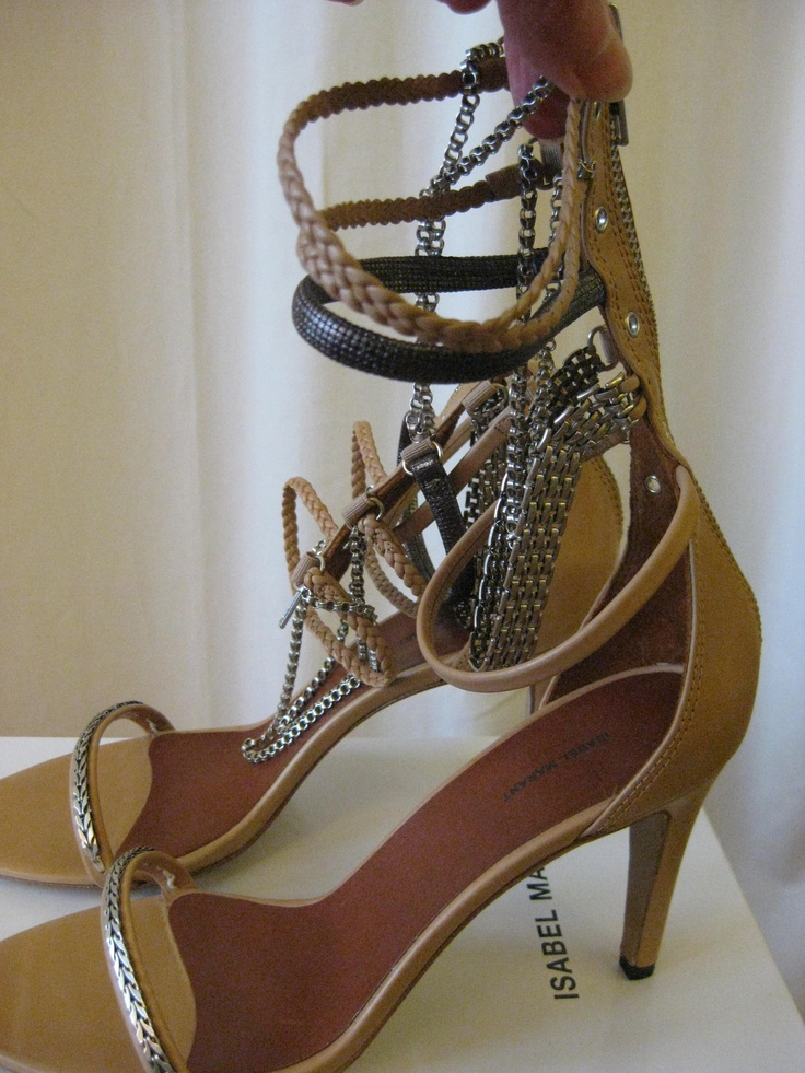 Isabel Marant Rea Natural Sandals with Chain SS 2012. Available from Changing Room, Tunbridge Wells