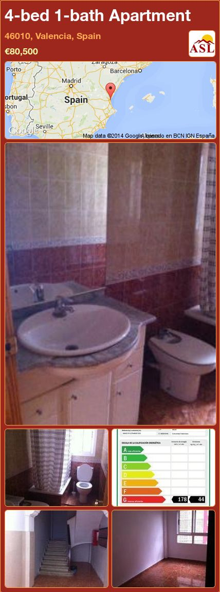 4-bed 1-bath Apartment in 46010, Valencia, Spain ►€80,500 #PropertyForSaleInSpain