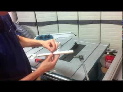 Modificaciones sierra de mesa MLT100 Makita - YouTube