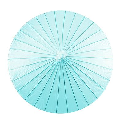 The Wedding Faire - Paper Parasol with Bamboo Boning - Aqua Blue, $16.95 (http://www.weddingfaire.com.au/paper-parasol-with-bamboo-boning-aqua-blue/)