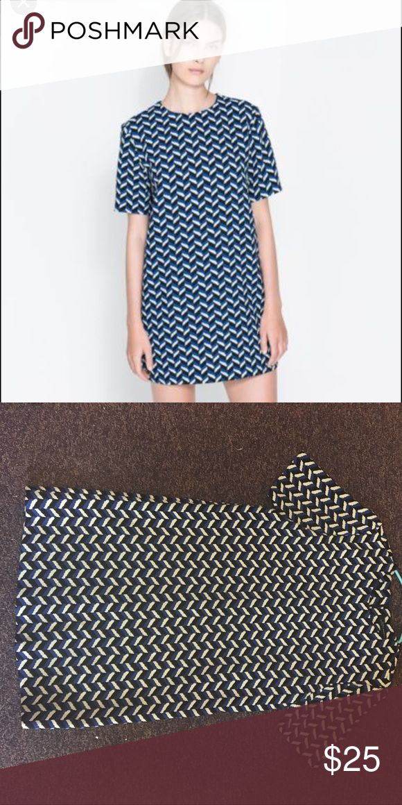Zara blue chevron dress in small!!! OPEN TO OFFERS 😄😄❤️ EUC Zara blue chevron dress in small!! Make an offer :) Zara Dresses