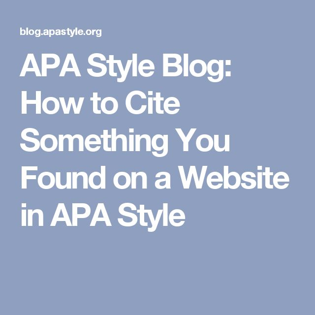 Quote Apa: 17 Best Ideas About Apa Style On Pinterest