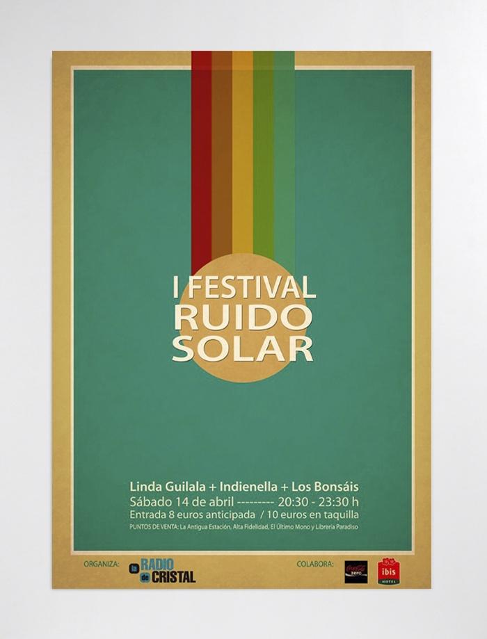 Cartel para el I Festival Ruido Solar