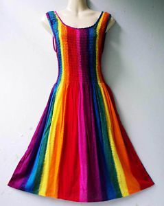 gorgeous rainbow dress!